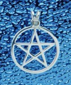 Pentagrama magica din argint - pandantiv - mic