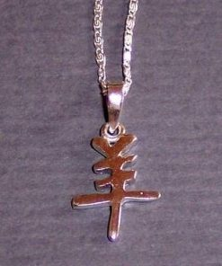 Pandantiv din argint - zodia Capra pe lantisor din argint