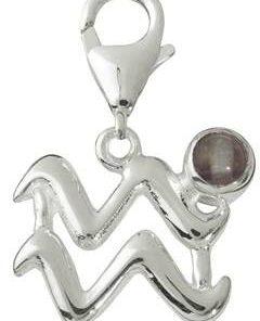 Pandantiv unisex din argint cu cristal de fluorit - Varsator