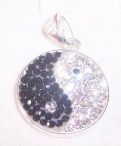 Pandantiv Yin-Yang din argint cu cristale swarowski!