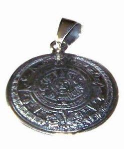 Calendarul aztec din argint - talisman de noroc si protectie