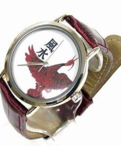 Ceas Feng Shui cu mecanism cuart - Yin-Yang si Phoenix