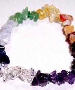Bratara din cristale mixte, cu cele 7 chakre