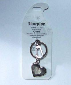 Breloc din metal si cristal de stanca, pentru Scorpion