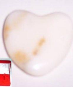 Inima din cristal natural de onix alb - unicata!