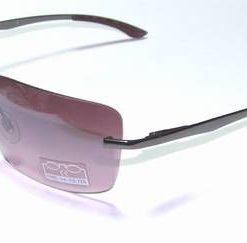 Ochelari de soare, cu rama din metal si lentila visinie