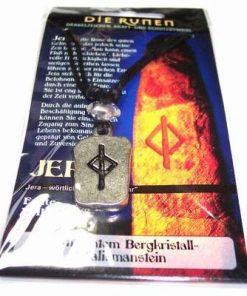 Runa JERA, din metal, cu cristal de stanca - unisex -12