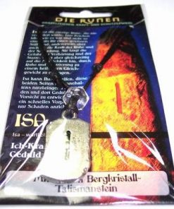 Runa ISA, din metal, cu cristal de stanca - unisex - 11