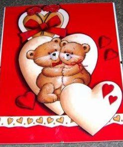 Tablou Feng Shui cu ursuletii dragostei - model deosebit!
