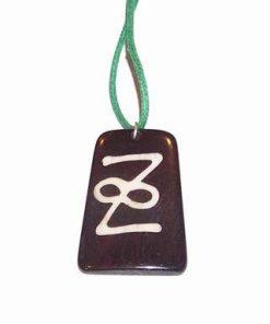 Talisman cu simbolul infinitului pe siret verde
