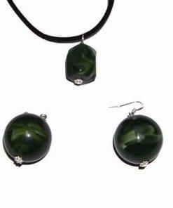 Set Feng Shui verde inchis pentru crestere spirituala.