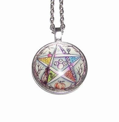 Pandantiv cu pentagrama magica