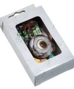 Talisman - Ochiul lui Shiva pe siret maro/verde, din agat