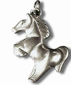 Calul norocos - Talisman din metal cu agat