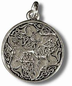 Nodul celtic - Talisman din metal cu agat