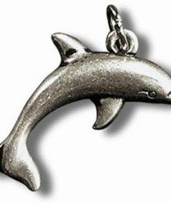 Delfinul norocos - Talisman din metal cu agat