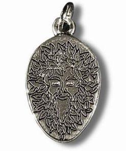 Spiritul padurii - Talisman din metal cu agat