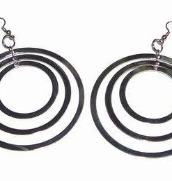 Cercei din metal nobil cu 3 cercuri