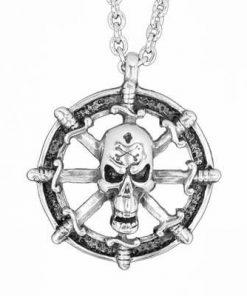 Talisman din metal nobil cu simbol de protectie, pe lant