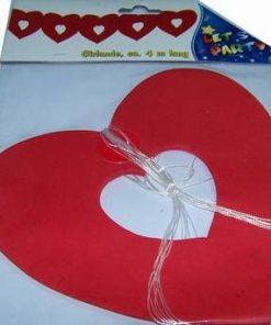 Ghirlanda Feng Shui cu inimi rosii