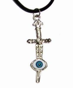 Spada cu Ochiul lui Horus pe siret negru