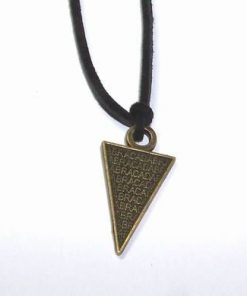 Talisman din metal nobil - ABRACADABRA