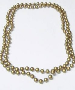 Colier cu perle industriale aurii pentru noroc la jocuri