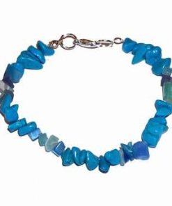 Bratara din metal nobil cu cristale de howlit albastru