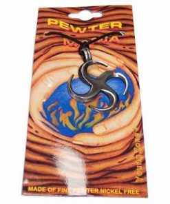 Talisman din metal pe siret negru cerat - Simbolul focului