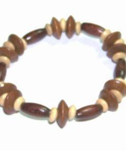 Bratara cu simboluri din lemn, pe elastic
