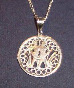 Pandantiv din  argint zodia Gemeni