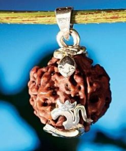 Pandantiv din argint cu simbolul Tao/OM si Sarpele cosmic