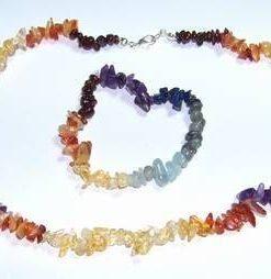 Setul celor 7 chakre din cristale naturale
