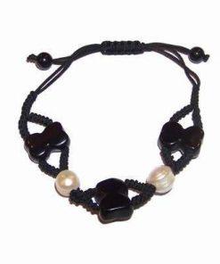 Bratara cu perle si cifra 8 stilizata, reglabila