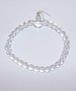 Bratara Mala pe elastic cu cristale transparente pentru sana