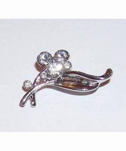 Brosa eleganta-frunza argintie cu 6 cristale ecologice