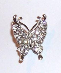 Brosa eleganta-fluture cu cristale ecologice