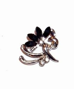 Brosa eleganta-floare cu cristale negre