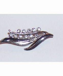 Brosa eleganta-lacramioara cu cristale