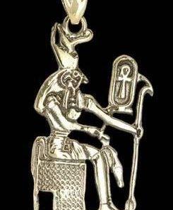 Pandantiv unisex cu simboluri egiptene, din bronz - Anubis