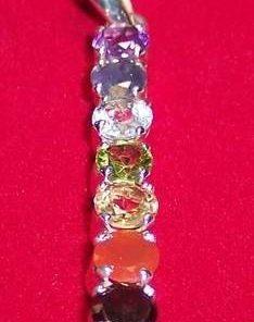 Pandantiv din argint cu cristalele celor 7 chakre