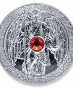 Moneda ingerului Uriel, placata cu argint