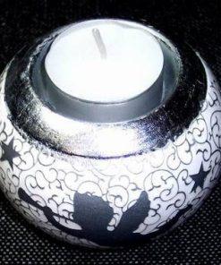 Suport de lumanari din ceramica cu ingeras de protectie