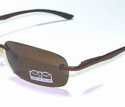 Ochelari de soare, cu rama din metal si lentila maro