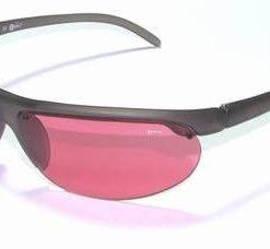 Ochelari de soare, cu rama din plastic si lentila visinie