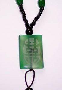 Colier cu simbolul dublei fericiri din agat - MODEL DEOSEBIT