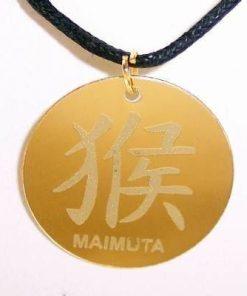 Talisman auriu pe siret negru cerat - Maimuta