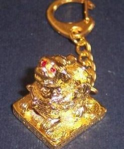 Breloc auriu cu Pi Yao inaripat din metal auriu