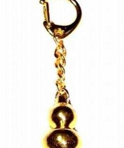 Breloc auriu din metal cu Wu Lou - Remediu Feng Shui