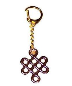 Breloc auriu cu Nodul Mistic - Remediu Feng Shui